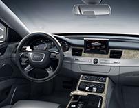 Audi A8L W12 cgi interior