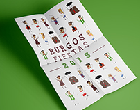 Cartel fiestas Burgos 2015