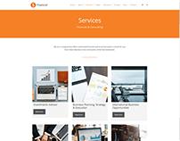 Services Page - Financial WordPress Theme