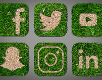 Nature Inspried Social Media Icons