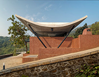 The Cove House in Panshet, India by Red Brick Studio