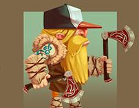 """Character Design for """"Where's my Helmet?"""""""