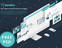 Free PSD & Sandeo - Seo Responsive Bootstrap Template