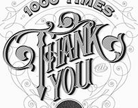 1000 TIMES THANK YOU