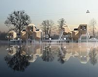 MINIMAL HOUSES wakeboard center- Warsaw, Poland