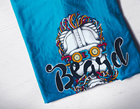 Robot Beard | Illustration | T-Shirt