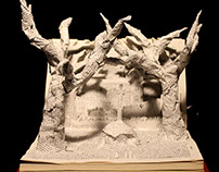 Sword in the Stone- Book Sculpture