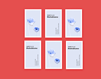 Mohnblume business cards design