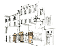 Journalistic Drawings in Viterbo