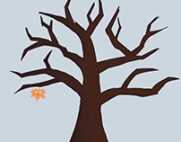 Animation Leaf 2D made with After Effects