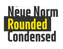 XXII Neue Norm Rounded Condensed - Font Family