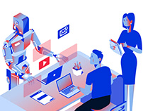 Business Illustrations for ICT.Moscow