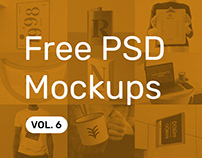 Free PSD Mockups vol. 6