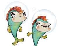 CHARACTER DESIGN: 'Fishpaste' animation