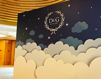 Backdrop Design for D&G Wedding