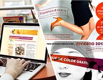 D'estètica & Gràcia - Flyers, banners & website