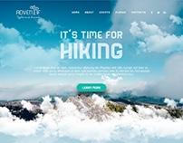 Adventif - Adventure Portal Web Design Concept
