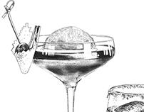 Сocktail menu for restaurant Mansarda