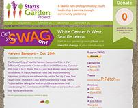 Starts with a Garden Logo + Wordpress Theme