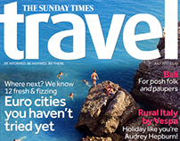 Photography spread in The Sunday Times Travel magazine
