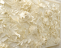 Paper floral artwork for Neo Bankside luxury apartment