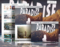 LostParadise-Travel Blog PSD free
