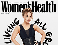Women's Health Front Cover & Feature hand lettering