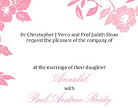 Annabel & Paul - wedding invitation set