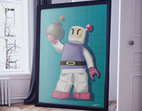Training painting - Bomberman (shirobon) LEGO ♥