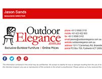 Outdoor Elegance | HTML email signature