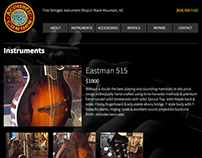 Acoustic Corner - Website Development
