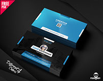 Creative Business Card Template Free PSD Bundle