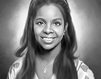 Gladys Knight Digital Oil Painting by Wayne Flint