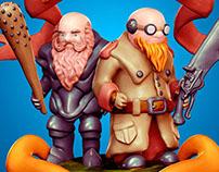 Plasticine characters
