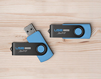 Free USB Flash Pen Drive Mockup PSD