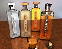 Tequila bottle prototypes