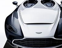 2020 Aston Martin V12 Speedster White & Black