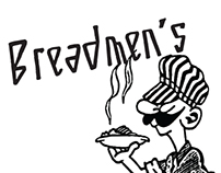 Typeface for Breadmen's Restaurant, Chapel Hill NC