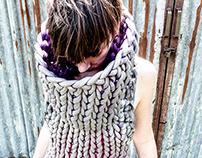 Hand knit dress.