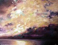Golden Skies, oil on canvas