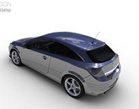 Renders Opel Astra versão 2004