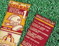 Retro Football Themed Business Card
