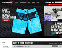 Quiksilver AU Ecom Header Options