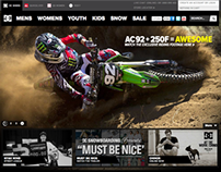 DC Shoes Australia Website Elements