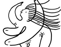 Line Dancing • Digital Illustration