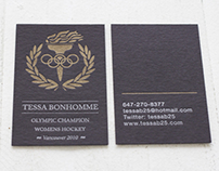 Tessa Bonhomme Business Card Design