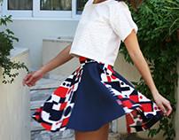top & full skirt