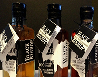 Black Bishop Bourbon Illustrative Packaging Design