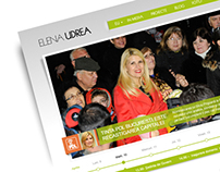 Elena Udrea - Website Redesign