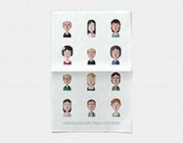 Πρόσωπα του χθες (vector illustration)